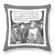 Delusional Criminal Throw Pillow