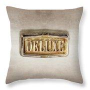Deluxe Chrome Emblem Throw Pillow