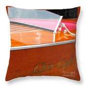 Chris Craft Deluxe Throw Pillow