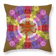 Deluxe Tribute To Tuko - Bronze Background Throw Pillow