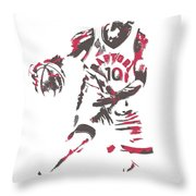 Demar Derozan Toronto Raptors Pixel Art 7 Throw Pillow