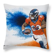 Demaryius Thomas Throw Pillow