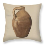 Demi-john Pottery Throw Pillow