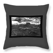 Demolition Derby Rain Storm Clouds #1 Tucson Arizona 1968 Throw Pillow