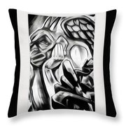 Demon In The Sky Throw Pillow