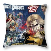 Demon Knights Throw Pillow