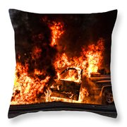 Demon Released Throw Pillow by Christopher Holmes