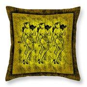 Demonios De Oro Throw Pillow