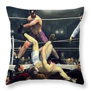 Dempsey And Firpo  Throw Pillow