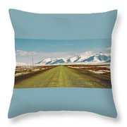 Dempster Highway - Yukon Throw Pillow