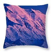 Denali Alpenglow Throw Pillow