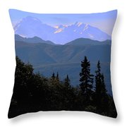 Denali Mountain Throw Pillow