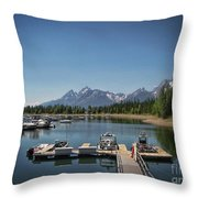 Denali Park Marina Throw Pillow