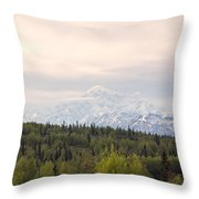 Denali Produces Its Own Weather Throw Pillow