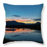 Denali Reflection Lake Throw Pillow