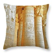 Dendera Temple Throw Pillow