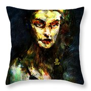 Denebris Impression Portrait 672 Throw Pillow