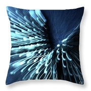 Denim And Light  Abstract 2 Throw Pillow