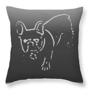 Butterfly The Frenchie Throw Pillow