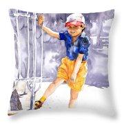 Denis 02 Throw Pillow by Yuriy  Shevchuk