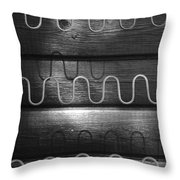 Denmark Abstract Of Chair Springs Throw Pillow