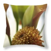 Denmark Close Up Brown Dahlia Throw Pillow