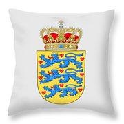 Denmark Coat Of Arms Throw Pillow