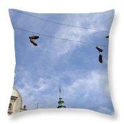 Denmark, Copenhagen, Amager Torv, Shoes Throw Pillow