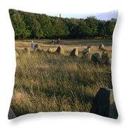 Denmark, Lindholm Hoeje Viking Burial Throw Pillow