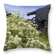 Denmark, Old Cannon On Bastion Throw Pillow