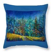Dense Forest Throw Pillow