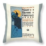 Denslows Night Before Christmas By Clement Moore Lld 1902 Throw Pillow