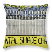 Dental Shade Chart Throw Pillow by Anthony Falbo