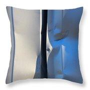 Dented Steel Sheet Throw Pillow