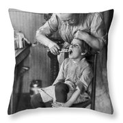 Dentistry, 1920s - To License For Professional Use Visit Granger.com Throw Pillow