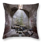 Dentist's Chair-eastern State Throw Pillow