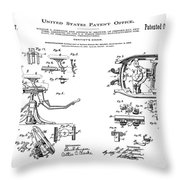 Dentists Chair Patent 1892 Throw Pillow
