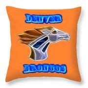 Denver Broncos 2 Throw Pillow
