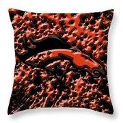 Denver Broncos 4b Throw Pillow