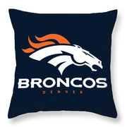 Denver Broncos Nfl Throw Pillow