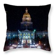 Denver Capital Nights Throw Pillow