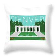 Denver Cheesman Park/lt Blue Throw Pillow by Sam Brennan