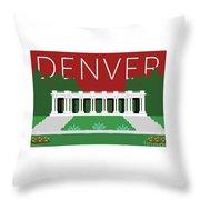 Denver Cheesman Park/maroon Throw Pillow by Sam Brennan