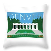 Denver Cheesman Park Throw Pillow by Sam Brennan
