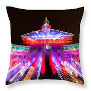 Denver City And County Building Lights Throw Pillow