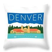 Denver City Park Throw Pillow by Sam Brennan