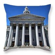 Denver, Colorado Courthouse Throw Pillow
