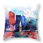 Denver, Colorado Skyline Throw Pillow