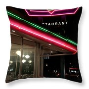Denver Diner Throw Pillow