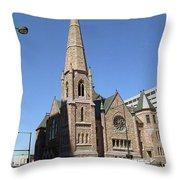 Denver Downtown Church Throw Pillow